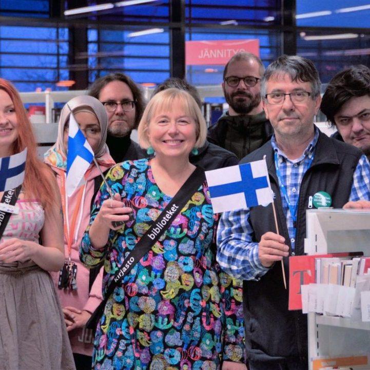 Espoon kaupunginkirjaston henkilökuntaa